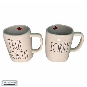 CANADA DAY SALE Rae Dunn SORRY & TRUE NORTH MUGS